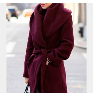 T Tahari Wool Shawl Wrap Coat